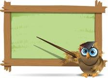 Δάσκαλος κουκουβαγιών ελεύθερη απεικόνιση δικαιώματος
