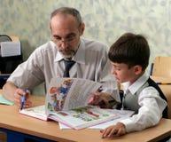 δάσκαλος μαθητών στοκ εικόνα με δικαίωμα ελεύθερης χρήσης