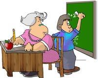 δάσκαλος σπουδαστών διανυσματική απεικόνιση