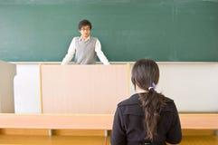 δάσκαλος σπουδαστών Στοκ εικόνες με δικαίωμα ελεύθερης χρήσης