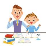 Δάσκαλος και παιδί διανυσματική απεικόνιση