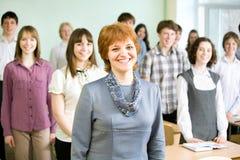 Δάσκαλος και σπουδαστές Στοκ Εικόνες