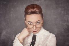 Δάσκαλος με τη λυπημένη έκφραση Στοκ φωτογραφία με δικαίωμα ελεύθερης χρήσης