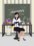 Δάσκαλος της χημείας στη μελέτη ελεύθερη απεικόνιση δικαιώματος