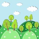 Δάσος άνοιξη άνευ ραφής Στοκ Εικόνα