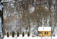 δάσος εξοχικών σπιτιών Στοκ φωτογραφίες με δικαίωμα ελεύθερης χρήσης