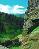 Δάσος και βουνά, αρχαία οχύρωση στοκ εικόνες