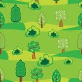 δάσος κινούμενων σχεδίων Στοκ εικόνες με δικαίωμα ελεύθερης χρήσης