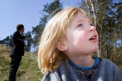 δάσος παιδιών αδελφών Στοκ Φωτογραφίες