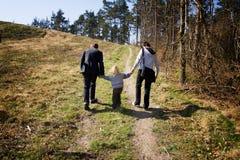 δάσος παιδιών αδελφών Στοκ εικόνες με δικαίωμα ελεύθερης χρήσης