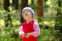 δάσος πορτρέτου παιδιών στοκ φωτογραφίες