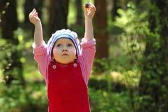 δάσος πορτρέτου παιδιών στοκ εικόνες με δικαίωμα ελεύθερης χρήσης