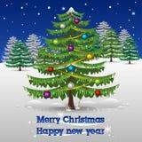 Δάσος Χριστουγέννων απεικόνιση αποθεμάτων
