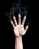 Δάχτυλα αστραπής Στοκ Φωτογραφία