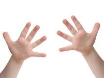 δάχτυλα δέκα Στοκ Εικόνα