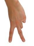 δάχτυλα δύο Στοκ Εικόνες