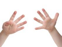 δάχτυλα εννέα στοκ εικόνες