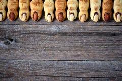 Δάχτυλα ` μαγισσών ` s μπισκότων ` κουλουρακιών - υπόβαθρο, τοπ άποψη, διάστημα αντιγράφων Στοκ Εικόνες