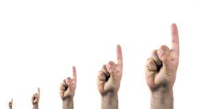 δάχτυλα που δείχνουν επά& Στοκ φωτογραφία με δικαίωμα ελεύθερης χρήσης