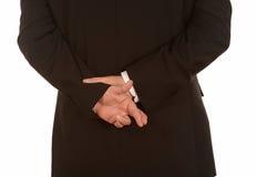 Δάχτυλα που διασχίζονται πίσω από την πλάτη Στοκ εικόνα με δικαίωμα ελεύθερης χρήσης