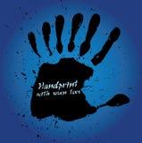 δάχτυλα handprint επτά Στοκ φωτογραφία με δικαίωμα ελεύθερης χρήσης
