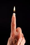 δάχτυλο κεριών στοκ εικόνα