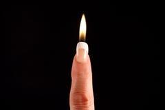 δάχτυλο κεριών στοκ φωτογραφίες με δικαίωμα ελεύθερης χρήσης