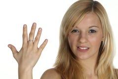 δάχτυλο πέντε Στοκ φωτογραφίες με δικαίωμα ελεύθερης χρήσης