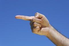 δάχτυλο που αφήνεται πλ&epsi Στοκ Εικόνες