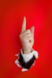 δάχτυλο που δείχνει πρός & Στοκ Φωτογραφίες