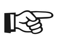 Δάχτυλο που δείχνει το σύμβολο Στοκ Φωτογραφίες