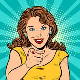 Δάχτυλο σημείου γυναικών σε σας χειρονομία απεικόνιση αποθεμάτων