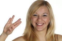 δάχτυλο τέσσερα Στοκ φωτογραφία με δικαίωμα ελεύθερης χρήσης