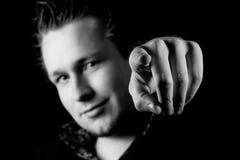 δάχτυλο το άτομό του που &d Στοκ φωτογραφίες με δικαίωμα ελεύθερης χρήσης