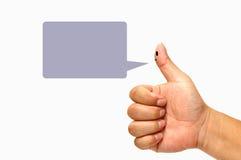 δάχτυλο smileys Στοκ φωτογραφία με δικαίωμα ελεύθερης χρήσης