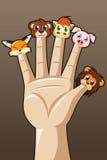 Δάχτυλα μαριονετών ελεύθερη απεικόνιση δικαιώματος