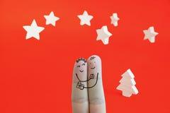 Δάχτυλα 1 Χριστουγέννων Στοκ Εικόνες