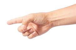 Δάχτυλο σημείου στοκ εικόνες με δικαίωμα ελεύθερης χρήσης