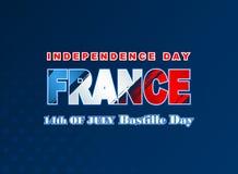 Δέκατος τέταρτος εθνικός εορτασμός Ιουλίου της Γαλλίας, υπόβαθρο με το grunge, σύσταση βουρτσών στα χρώματα εθνικών σημαιών Στοκ Εικόνες