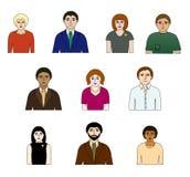 Δέκα άνθρωποι Στοκ Εικόνα