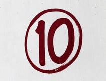 Δέκα αριθμός Στοκ φωτογραφίες με δικαίωμα ελεύθερης χρήσης