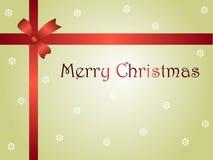 Δέμα καρτών Χριστουγέννων με την κορδέλλα Στοκ εικόνα με δικαίωμα ελεύθερης χρήσης