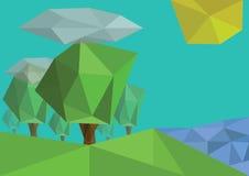 Δέντρα έξω στη φύση Στοκ εικόνα με δικαίωμα ελεύθερης χρήσης