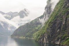 Δέντρα βουνών φιορδ Στοκ εικόνα με δικαίωμα ελεύθερης χρήσης