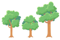 Δέντρα για τα παιχνίδια και τις ζωτικότητες Στοκ φωτογραφία με δικαίωμα ελεύθερης χρήσης