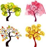 Δέντρα καθορισμένα Στοκ εικόνες με δικαίωμα ελεύθερης χρήσης
