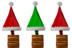 δέντρα καπέλων Χριστουγέν&nu Στοκ φωτογραφία με δικαίωμα ελεύθερης χρήσης