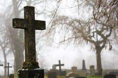 δέντρα ομίχλης εκκλησιών Στοκ εικόνες με δικαίωμα ελεύθερης χρήσης