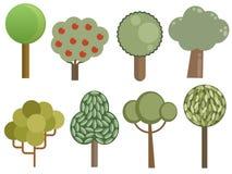 δέντρα συλλογής Στοκ Εικόνες