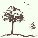 δέντρα σχεδίου καρτών ελεύθερη απεικόνιση δικαιώματος